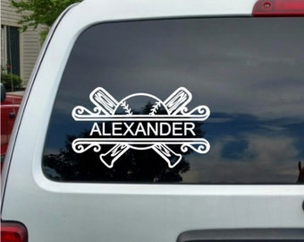 Baseball Decal Etsy - Window decals for vehicles personalized