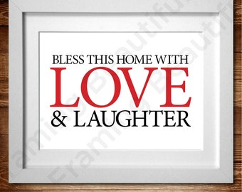 Love & Laughter Word Art Print* A4 (also available in A3)