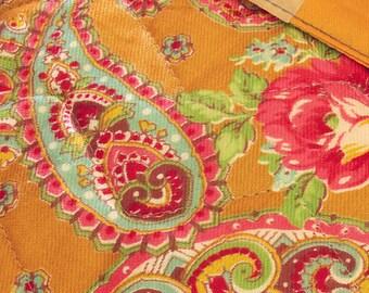 Exquisite Double Roses Antique Quilt