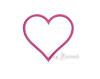 Heart Embroidery Designs 13 size Instant Download