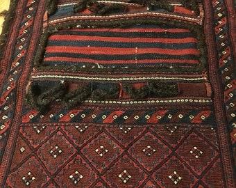 Vintage Kilim Saddle bag rug