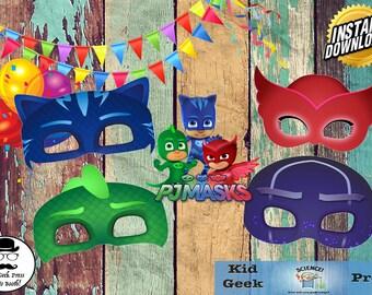 PJ Masks Print & Cut Masks!