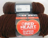 Coffee -  Red Heart Super Saver yarn worsted weight - 2037