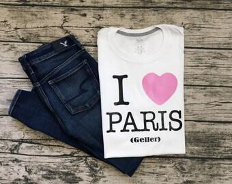 """Gilmore Girls """"I Heart Paris (Geller)"""" T-Shirt"""