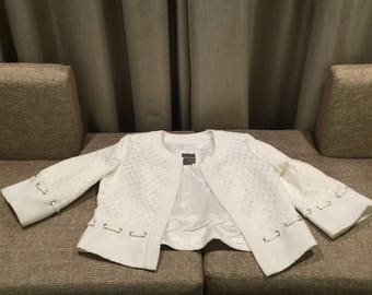 White blazer size 14P SOLD AS IS