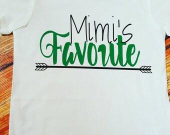 Baby clothes, toddler clothes, Mimi's favorite top, grandparent kids clothes