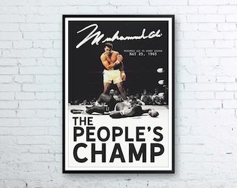 Muhammad Ali, Muhammad Ali Poster, Muhammad Ali Art, Muhammad Ali Print, Muhammad Ali Fight, Ali vs Liston