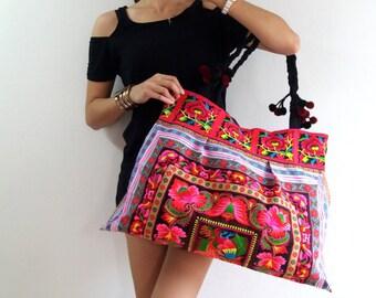 Handmade bag, Thai Bag, Hmong Bag,Hill Tribe Bag,Embroidered Bag, Ethnic Purse, Woven Bag, Shoulder Bag, Ethnic Hmong Bag, Tribal Handbag