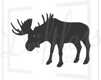 Moose Stencil 3, Moose Template, North Woods Stencil, Moose Decor