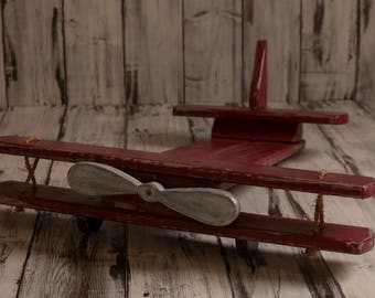 Wood Airplane Prop for Newborns