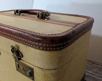 1950 Vintage Luggage Train Case Movie Prop