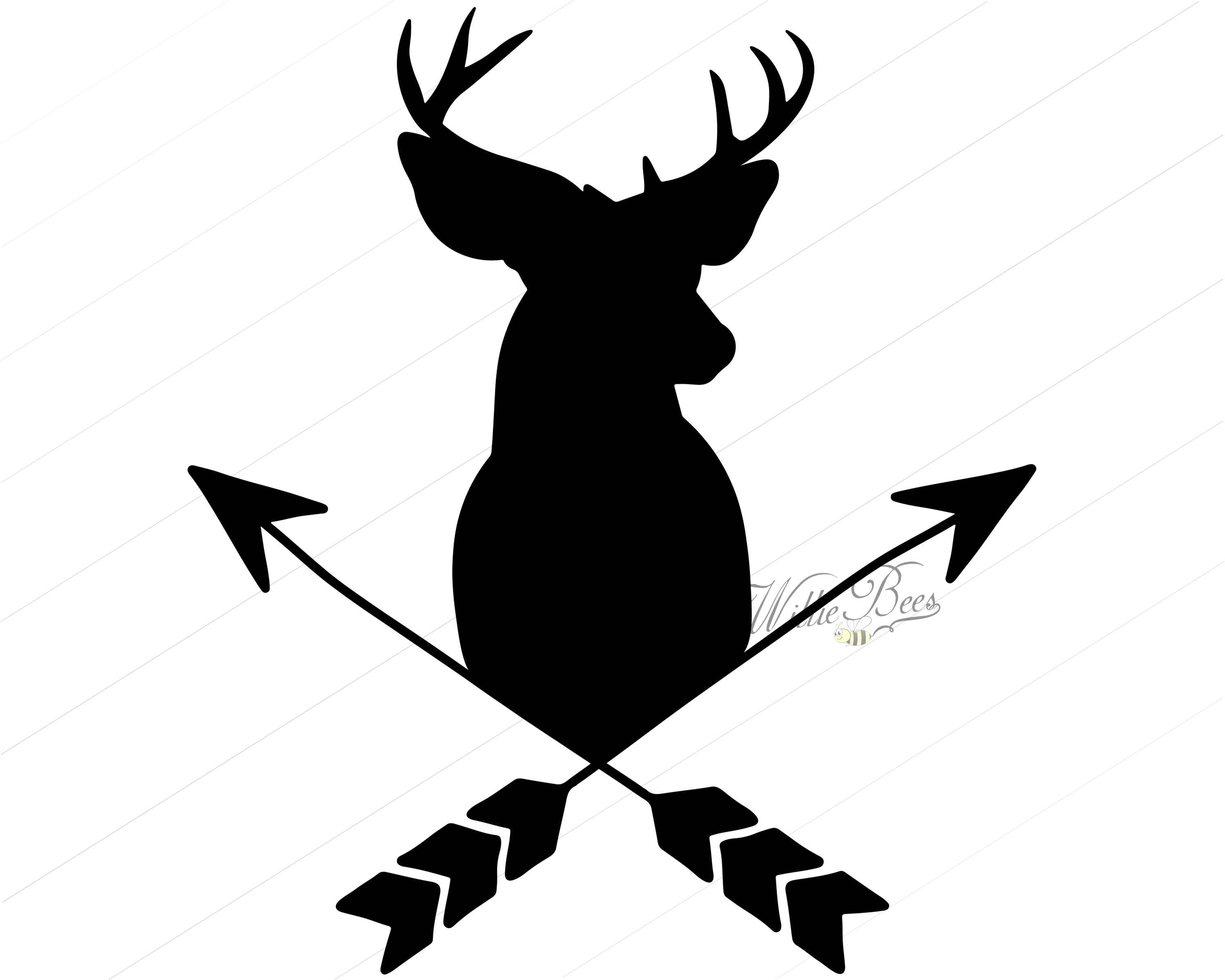 deer head with arrows 12 inches png and svg silhouette deer head clip art free deer head clip art images