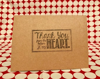 Thank You Cards ~ Hand-Stamped