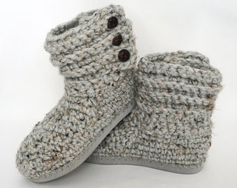 Crochet Sweater Boots