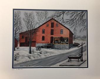 Bonholtzer Mill Oil Painting Print