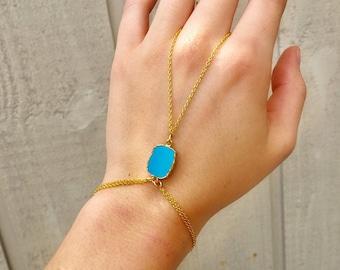 Turquoise Hand Chain