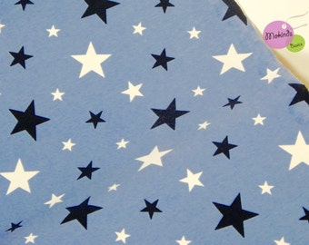 Jersey Cotton Jersey blue light blue star