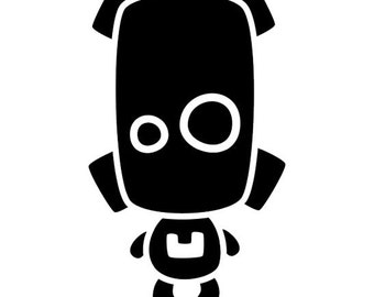 Cute Robot Vinyl Decal #2