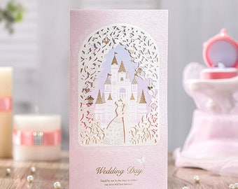 cinderella wedding invitations | etsy, Wedding invitations