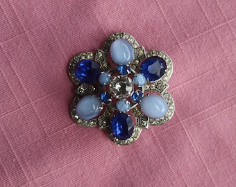 Vintage, blue brooch