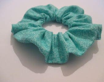 Scrunchie, Cute, Hair Accessories, Hair Bands, Floral, Summer, Sea green, Gifts, Girls, Handmade