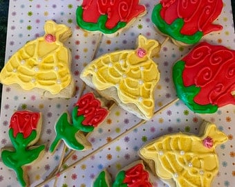 Beauty and The Beast Themed Cookies 12