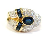 Estate 14K Diamond & Sapp...