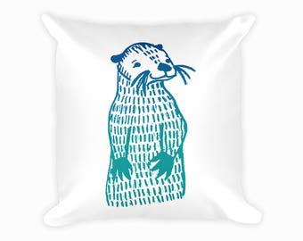 Cheeky Otter Cushion - 100% Polyester Cushion / Machine Washable