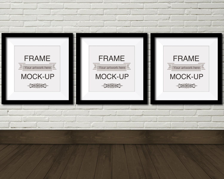 Digital frame mockup three square frames 10 x 10 inch 12 x 12 this is a digital file jeuxipadfo Choice Image