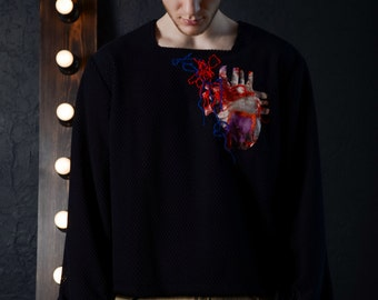 Pullover with embroidery 'Braveheart'