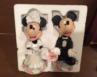Disney Mickey and Minnie Mouse Wedding Bobble Heads