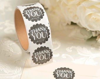 Thank You Chalkboard Stickers (100 Stickers Per Roll)