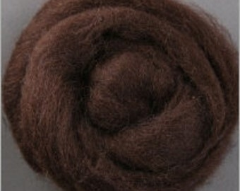 Corriedale Wool Roving- 020 Chocolate