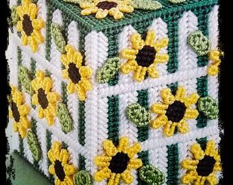 Sunflower Garden Tissue Box Cover