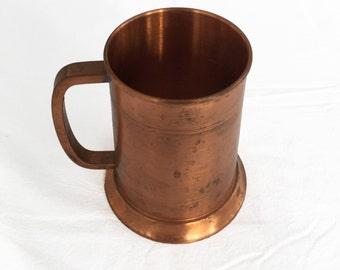 Handmade Copper Glass Bottom Moscow Mule Coffee Mug