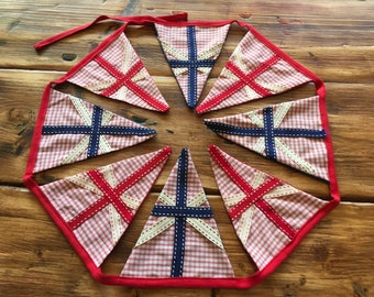 Luxury Union Jack bunting  - vintage style red, white and blue