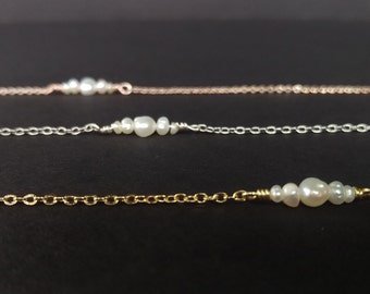B-01 Seven Wonders Freshwater Pearl Bracelet, Available in Gold, Rose Gold and Silver