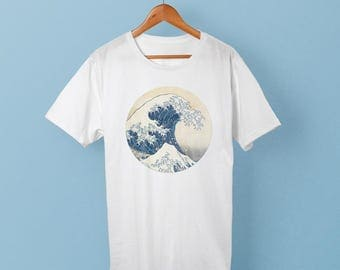 Great Wave Shirt - Ocean Wave Art T Shirt (great wave off kanagawa)