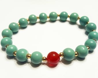 Teal & Red Aventurine