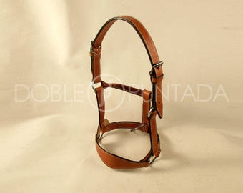 Block from leather headstall.