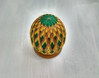 Temari Egg pattern rhombuses souvenir