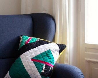 SKITASTIK No.2 Stylish Geometric Quilted Pillow