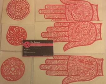 Reusable henna stencil