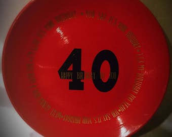 Beatles lyrics Birthday Plate
