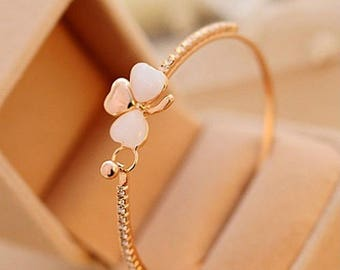 Clover Flower Bangle