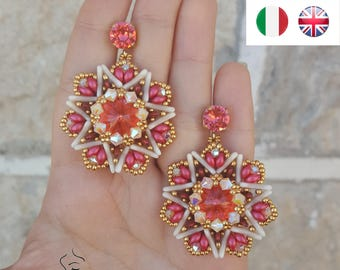 Earrings Edelweiss- beading pattern