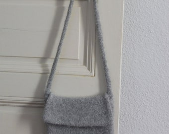 Small felted wool bag