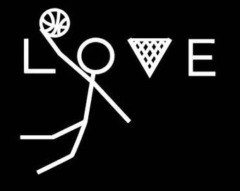 Basketball car decal. Basketball decal. Basketball car sticker. Basketball dunk. Basketball love. Basketball window decal. Bball car decal