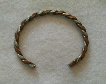 Silver/Copper twist bracelet