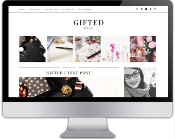 Premade responsive blogger template - GIFTED